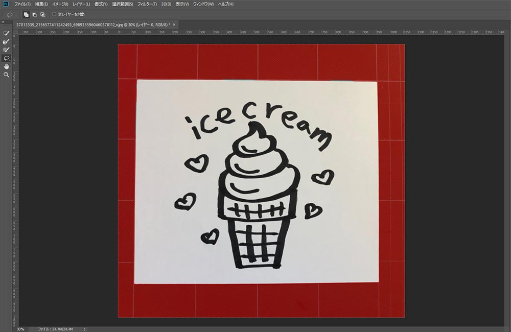 36カメラ-アイスクリーム-フォトショップ切り抜き後