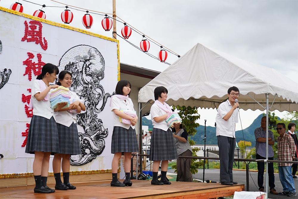 イベントステージ福智高校ボランティア部撮影4