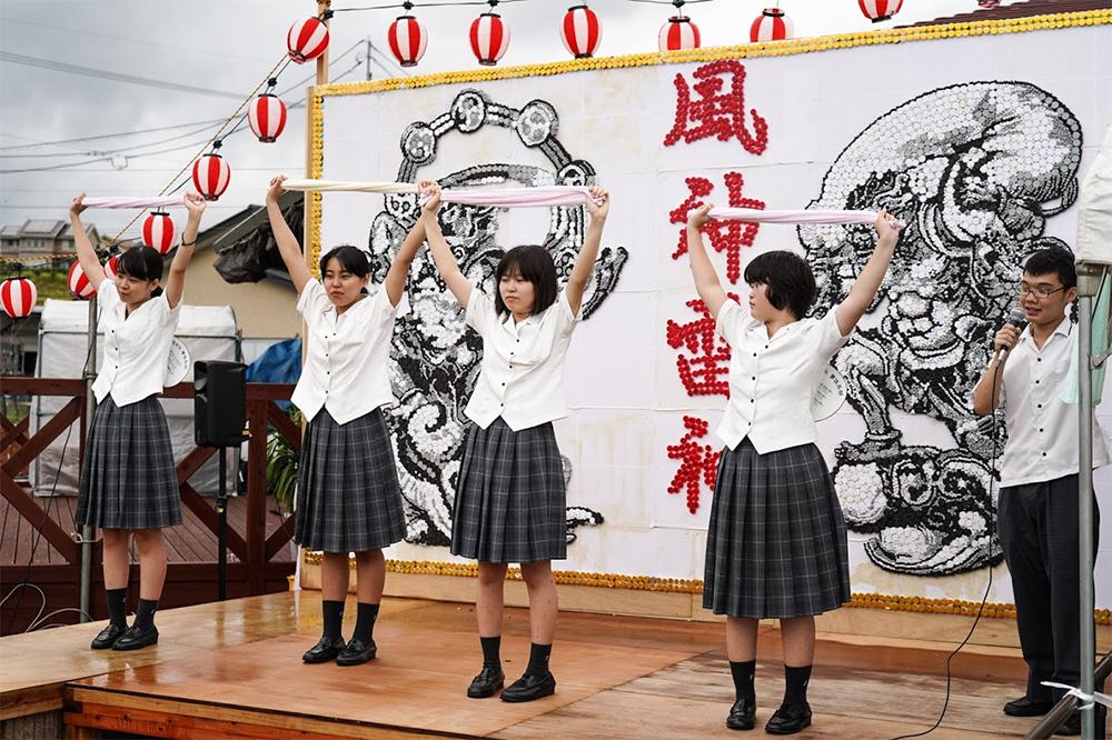 イベントステージ福智高校ボランティア部撮影3