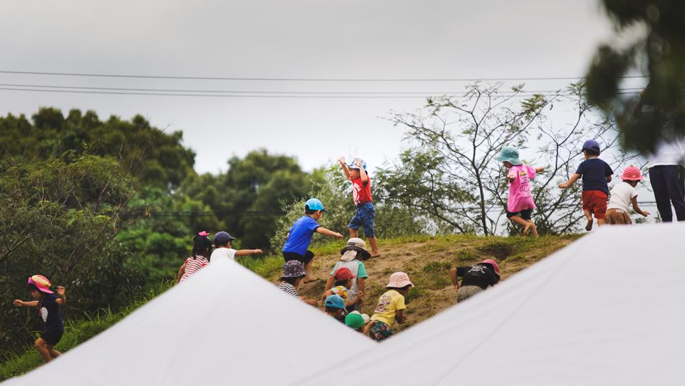 保育園運動会山登り出張撮影36カメラ