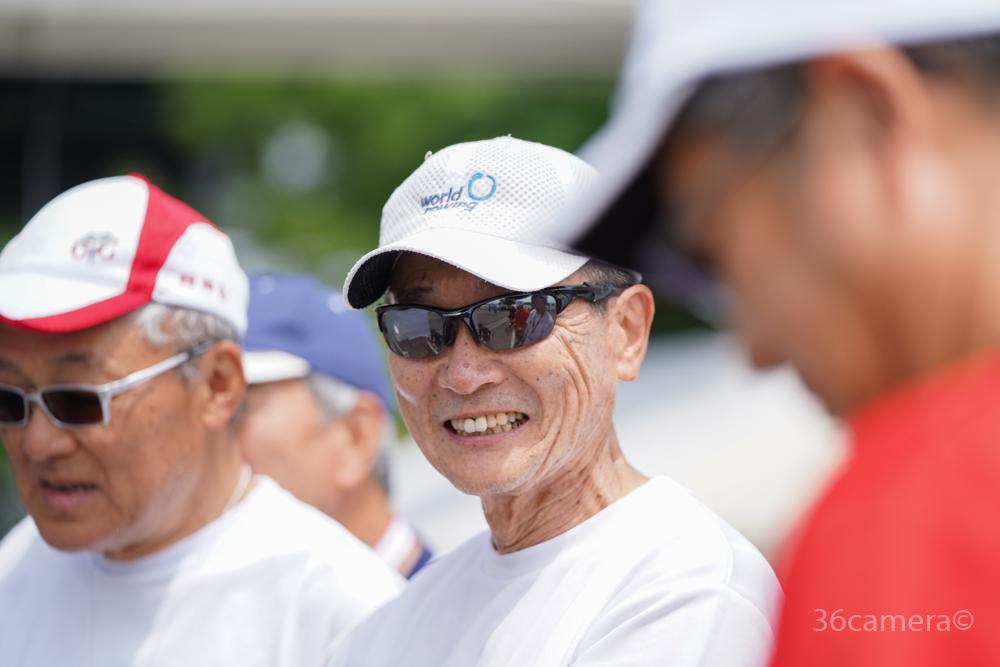 マスターズレガッタ 三菱ボートクラブシニア 秋山さん