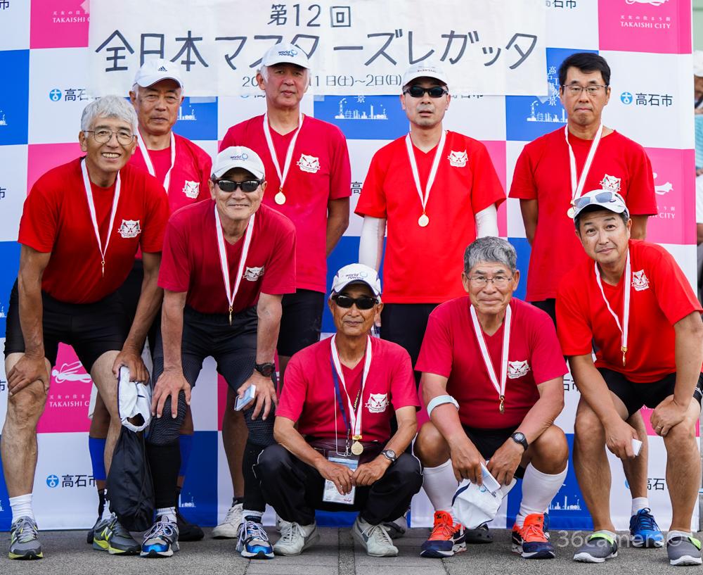 ボート競技 2019全日本マスターズレガッタ エイト優勝