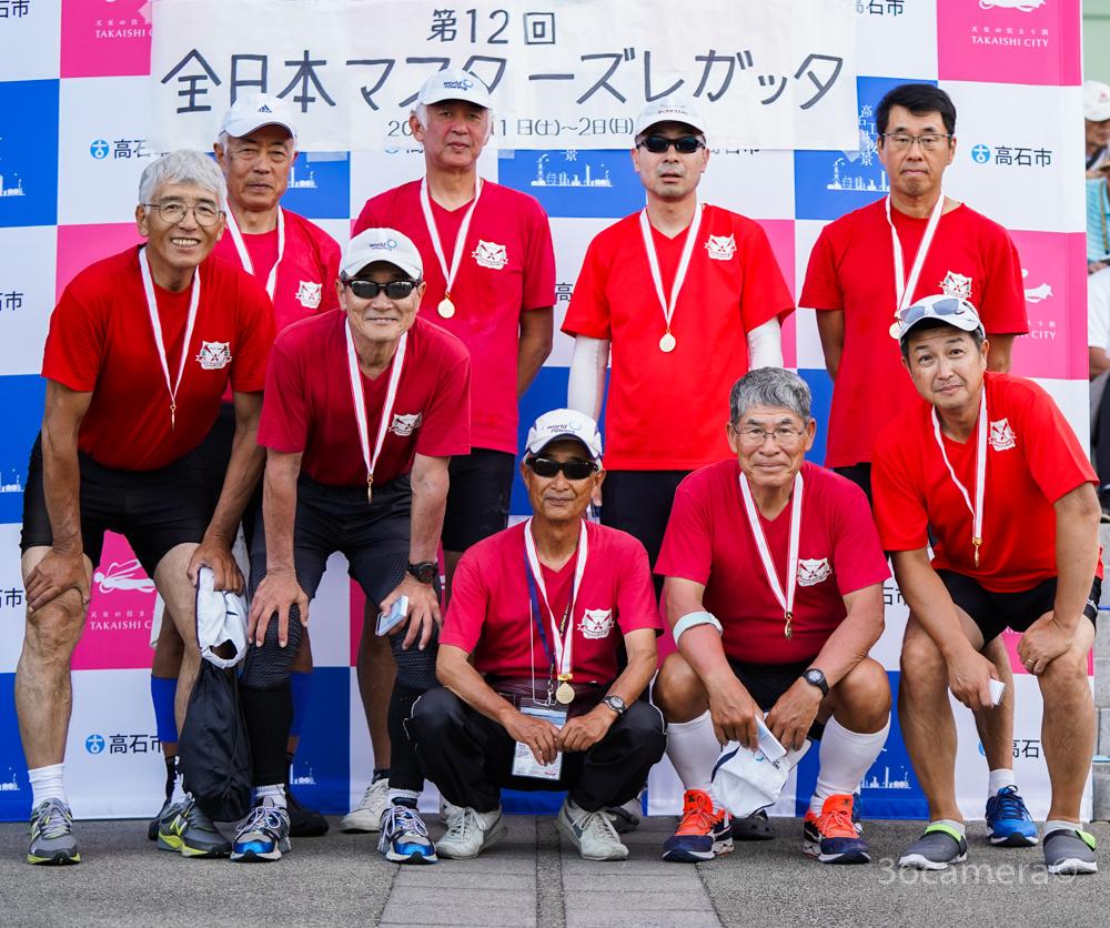 全日本マスターズレガッタ2019 三菱エイト 優勝