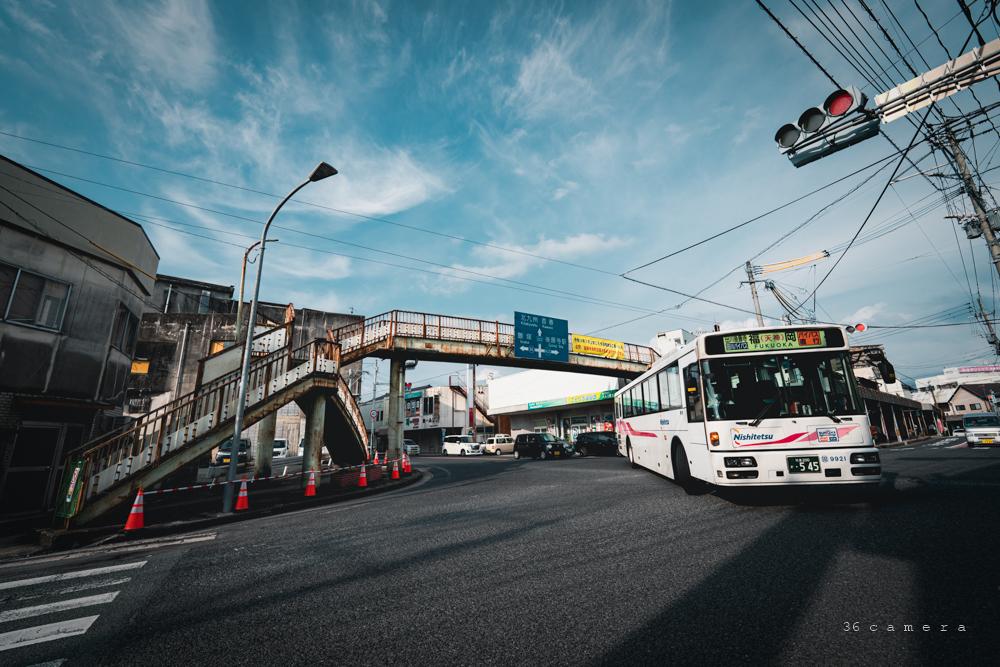 歩道橋撤去 田川市後藤寺バスターミナル
